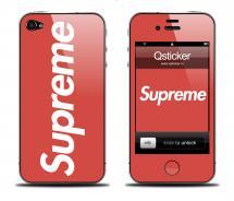 Наклейка на iPhone 4/4S - дизайн Supreme