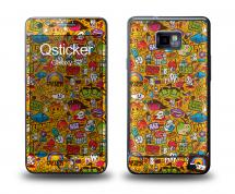 Наклейка Qsticker на Samsung Galaxy S2 - Clipart Yellow