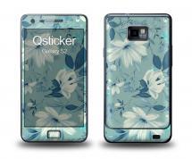 Наклейка Qsticker на Samsung Galaxy S2 - Flovers Blue