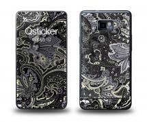 Наклейка Qsticker на Samsung Galaxy S2 - Flovers Grey
