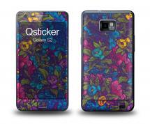 Наклейка Qsticker на Samsung Galaxy S2 - Flovers violet