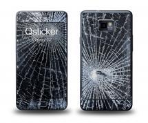 Наклейка Qsticker на Samsung Galaxy S2 - Разбитое стекло