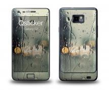 Наклейка Qsticker на Samsung Galaxy S2 - Дождь