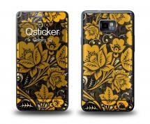 Наклейка Qsticker на Samsung Galaxy S2 - Hohloma Gold