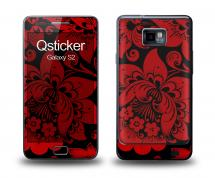 Наклейка Qsticker на Samsung Galaxy S2 - Hohloma Red