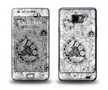 Наклейка Qsticker на Samsung Galaxy S2 - Hohloma Whitewhite