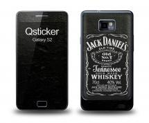 Наклейка Qsticker на Samsung Galaxy S2 - Jack Daniels