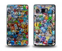 Наклейка Qsticker на Samsung Galaxy S2 - Logos