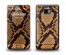 Наклейка Qsticker на Samsung Galaxy S2 - кожа змеи