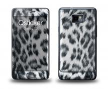 Наклейка Qsticker на Samsung Galaxy S2 - Снежный леопард