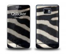 Наклейка Qsticker на Samsung Galaxy S2 - Зебра