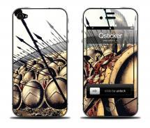 Наклейка для iPhone 4s - дизайн Sparta