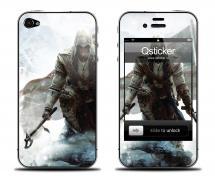 Наклейка для iPhone 4s - дизайн Assassin's Creed