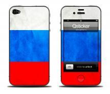 Наклейка для iPhone 4s - дизайн Флаг России