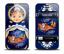 Наклейка для iPhone 4s - дизайн Русская матрешка