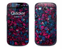 Наклейка на Samsung Galaxy S3 - ClipArt Violet